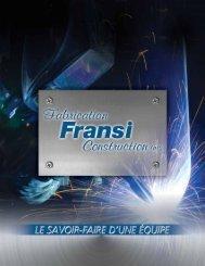 équipementS - Fabrication Fransi Construction inc.