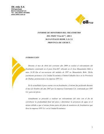 OIL m&s S.A. - Organismos
