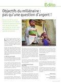 Objectifs du millénaire : le poids de l'incohérence Objectifs du ... - Page 3
