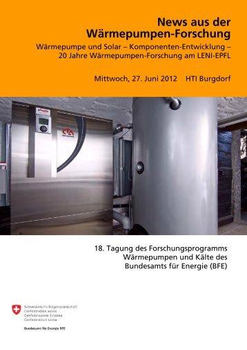 News aus der Wärmepumpen-Forschung - FWS