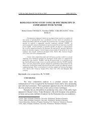 romanian wine study using ir spectroscopy in ... - Scientific Bulletin