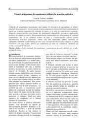 Tehnici nealeatoare de esantionare utilizate în practica statistica