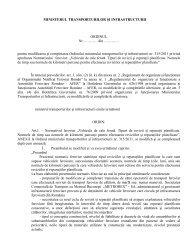Textul proiectului - Ministerul Transporturilor