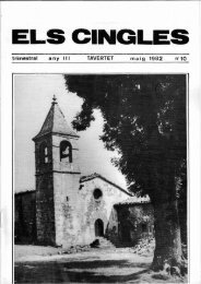 Revista ELS CINGLES - n10 maig 1982 - Ajuntament de Tavertet