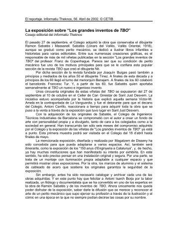 """La exposición sobre """"Los grandes inventos de TBO"""" - J. R. Mora"""