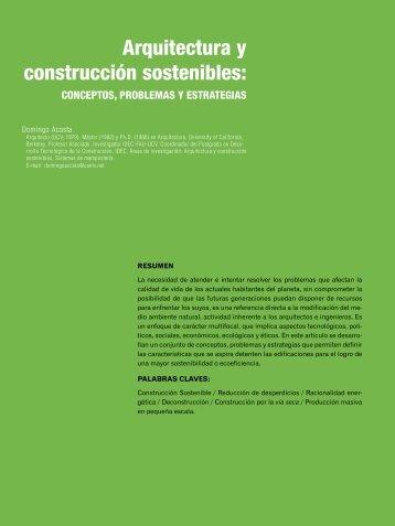Arquitectura y construcción sostenibles: - dearq