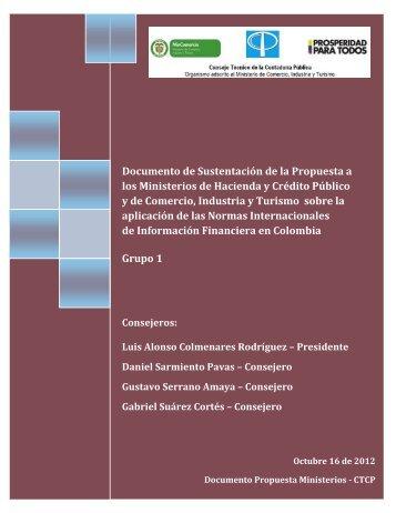 Documento de Sustentación de la Propuesta a los - Ministerio de ...
