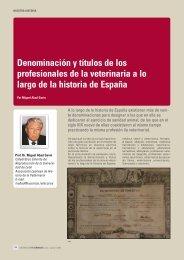 Denominación y títulos de los profesionales de la veterinaria a lo ...