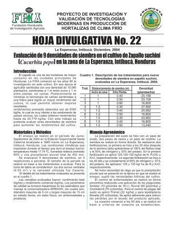 HOJA DIVULGATIVA No. 22 - FHIA
