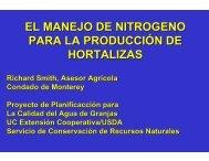 El Manejo del Nitrógeno - University of California Cooperative ...