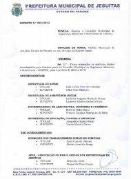 Assinado Por Prefeitura Municipal de Jesuítas