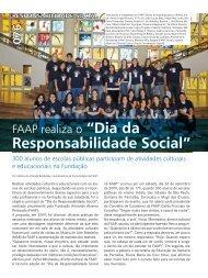 Dia da Responsabilidade Social na FAAP - Revista Qualimetria