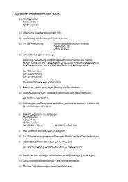 Öffentliche Ausschreibung nach VOL/A a) Stadt Alzenau Hanauer ...