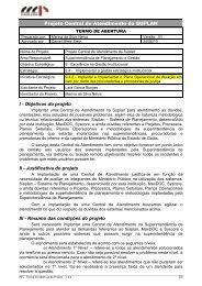 Central de Atendimento da SUPLAN - Ministério Público do Estado ...