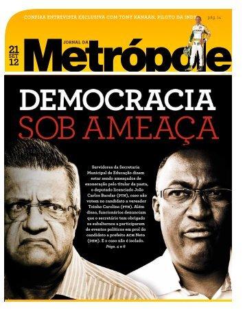 clique aqui para ler o jornal na íntegra - Jornal da Metrópole
