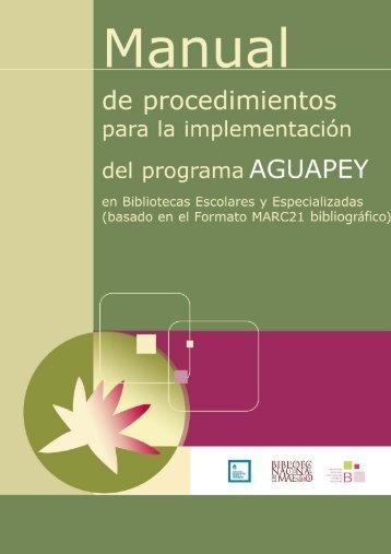 Manual de procedimientos para la implementación del programa
