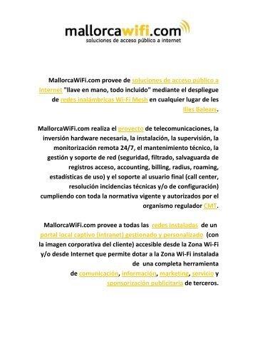 MallorcaWiFi.com provee de soluciones de acceso ... - Wifi Mallorca