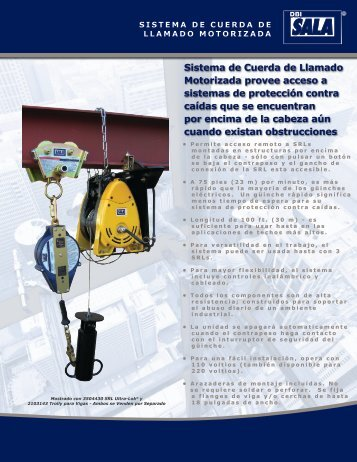 Sistema de Cuerda de Llamado Motorizada provee ... - Capital Safety