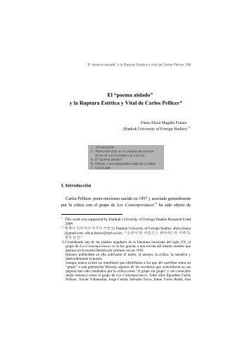 """El """"poema aislado"""" y la Ruptura Estética y Vital de Carlos Pellicer*"""