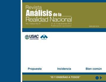 Revista Análisis de la Realidad Nacional, Edición No. 19