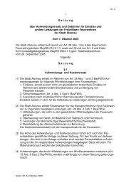 6-1-2 Satzung Feuerwehren Aufwendungsersatz - Stadt Alzenau