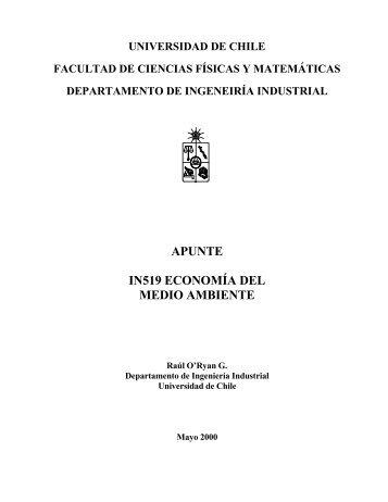 APUNTE IN519 ECONOMÍA DEL MEDIO AMBIENTE - Programa de ...