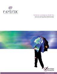 Descargue el archivo pdf para obtener más información - Netrix