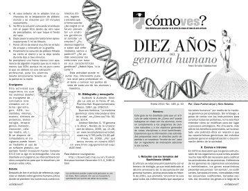 No. 146, p. 10, Diez años del genoma humano - Cómo ves? - UNAM