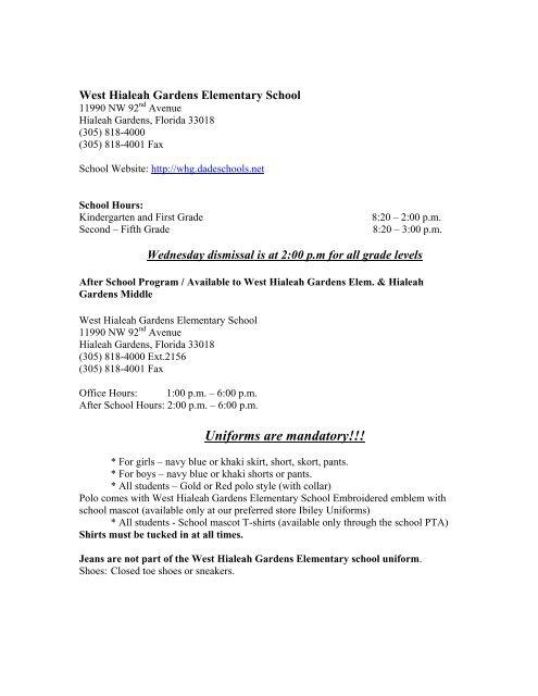 e1ceaf68e1 West Hialeah Gardens Elementary School - Dadeschools.net