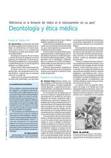 Deontología y ética médica - Sindicato Médico del Uruguay