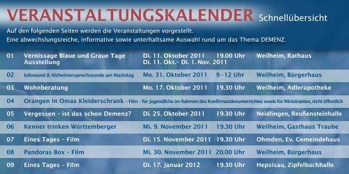 Blaue & graue tage - Alzheimer Gesellschaft Baden-Württemberg