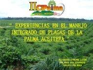 experiencias en el manejo integrado de plagas de la palma aceitera
