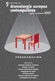Programa Completo - Festival de Dramaturgia Europea