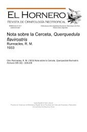 Nota sobre la Cerceta, Querquedula flavirostris - Biblioteca ...