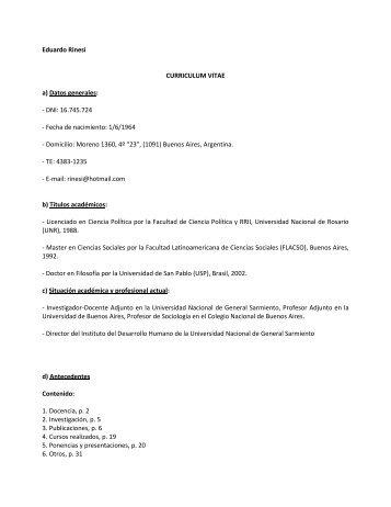 Dr. Rinesi Eduardo - Facultad de Trabajo Social - Universidad ...