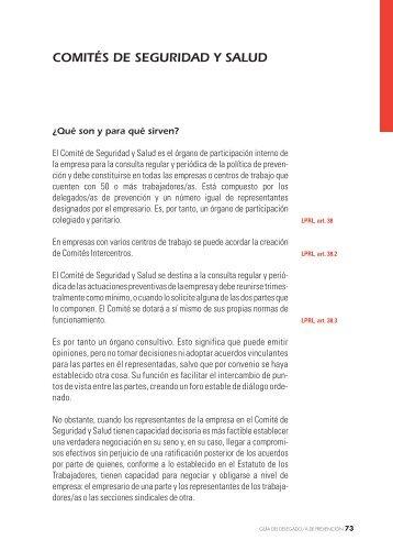 COMITÉS DE SEGURIDAD Y SALUD - Istas