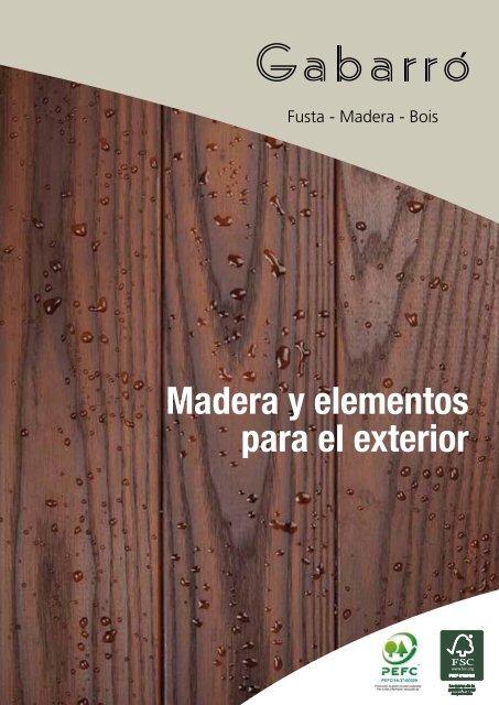 Catálogo de Madera y elementos para el exterior - Gabarró