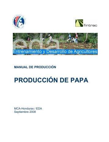 PRODUCCIÓN DE PAPA - Cuenta del Milenio - Honduras