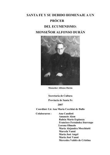 Santa Fe y su debido homenaje a un prcer del ecumenismo: