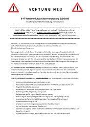 47 Versammlungsstättenverordnung (Vstättv) - Amerang