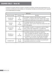 EXAMEN DELE • Nivel B2