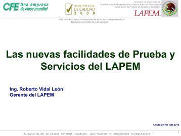 CAPACIDADES DEL LABORATORIO DE ALTA POTENCIA