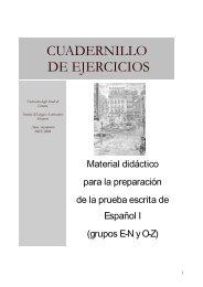 cuadernillo de ejercicios - Iberistica - Università degli Studi di Genova
