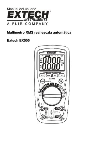 Manual - Extech Instruments