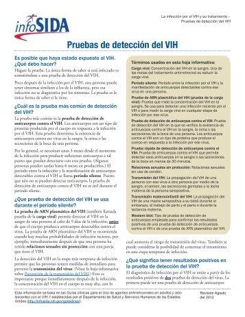 Pruebas de detección del VIH - AIDSinfo