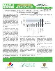 Boletín Quincenal Abastecimiento de Alimentos en los ... - Agronet