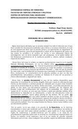 PRUEBAS DOCUMENTALES Y TECNICAS - Postgrado de Ciencias ...
