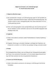 (1) Die nachstehenden Verkauf - bei ALUMIL Deutschland Gmbh