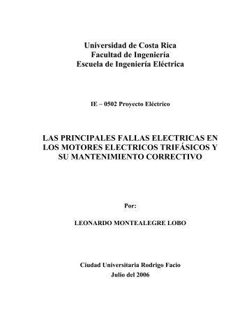 Informe - Escuela de Ingeniería Eléctrica - Universidad de Costa Rica