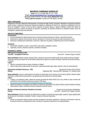 MAURICIO CARDENAS GONZALEZ - Corporación Escenarios